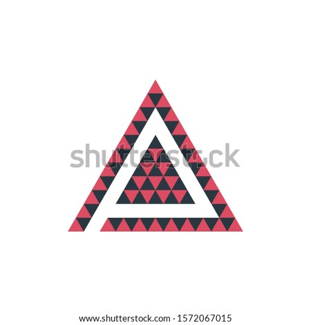 Triangle origami in two colors tech business logo design template. Stock Vector illustration isolate Stock photo © kyryloff