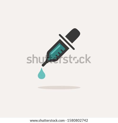 Cseppentő ikon árnyék bézs gyógyszertár üveg Stock fotó © Imaagio