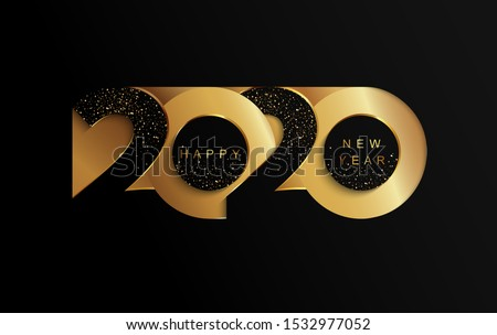 elegant 2020 new year celebration flyer template design Stock photo © SArts