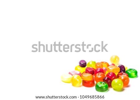 Színes különböző forma zselé cukorkák piac Stock fotó © boggy