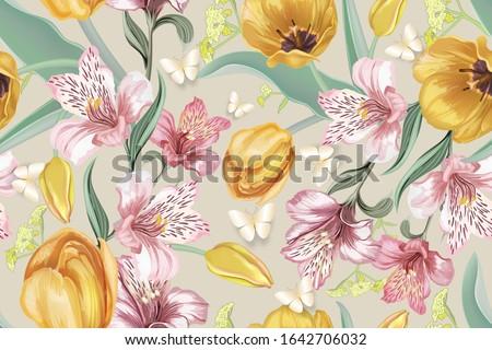 Mutlu sevgililer günü zambak çiçek pastel renkler Stok fotoğraf © ikopylov