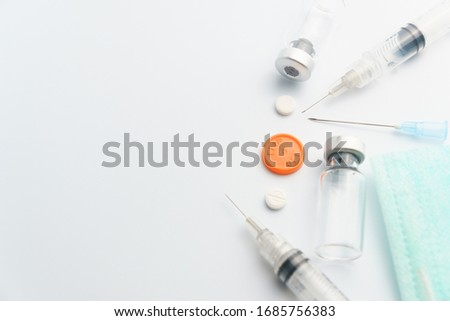 Wuhan's Fever Diagnosis. Medical Concept. Composition of Medicaments. Stock photo © tashatuvango