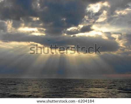 ярко закат мрачный облачный небе Сток-фото © amok