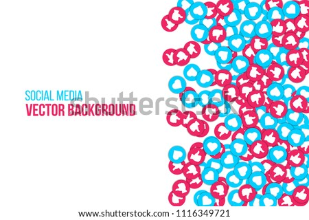 Vector seamless pattern with smm elements. Social Media Marketing. Reach and promotion among target  Stock photo © user_10144511