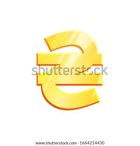 Ukrainian hryvnia money sign. Currency symbol icon. Stock Vector illustration isolated on white back Stock photo © kyryloff