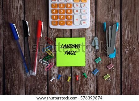 Online identity management concept landing page Stock photo © RAStudio