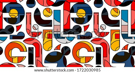Colorful bright seamless vector pattern. Artitic vibrant repeatable background. Contemporary fashion Stock photo © ExpressVectors