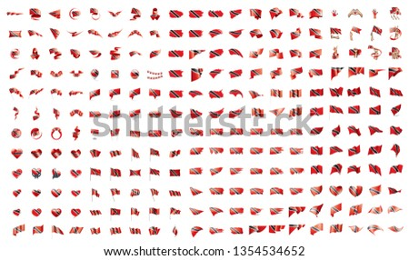 very big collection of vector flags of the Trinidad and Tobago Stock photo © butenkow
