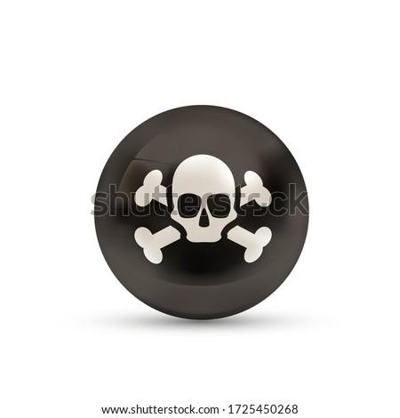 Pirate pavillon crâne os bouclier Photo stock © evgeny89