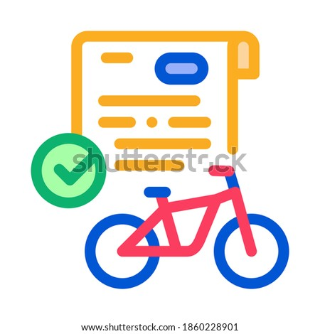 contract for temporary use of bicycle icon vector outline illustration Stock photo © pikepicture