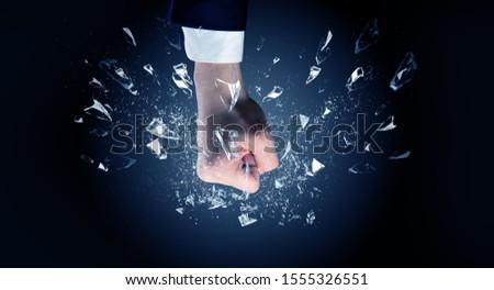 Kéz intenzív szemüveg nagy üzlet sport Stock fotó © ra2studio