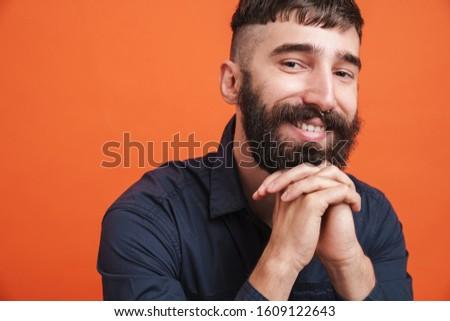 画像 スタイリッシュ 男 鼻 宝石 笑みを浮かべて ストックフォト © deandrobot