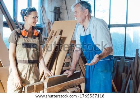 Altos carpintero sabiduría colega Foto stock © Kzenon