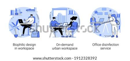 Office disinfection service abstract concept vector illustration. Stock photo © RAStudio