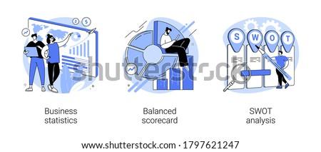 Statystyka danych analiza wektora metafora finansowych Zdjęcia stock © RAStudio