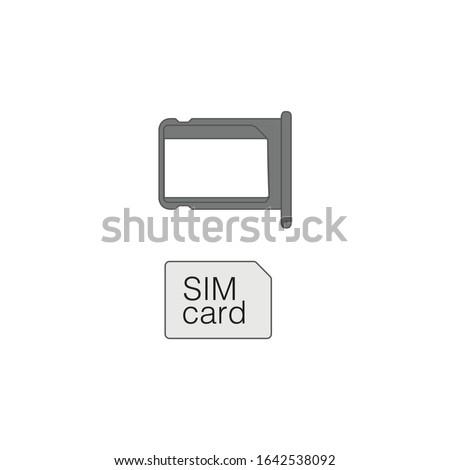 Pequeno nano cartão bandeja estoque Foto stock © kyryloff