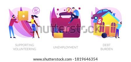 Socio-economic outbreak impact abstract concept vector illustrations. Stock photo © RAStudio