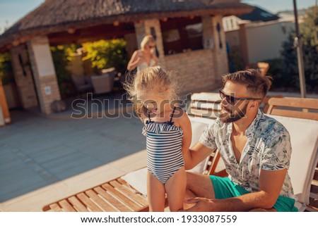 havuz · yerleşim · ev · bahar · büyük - stok fotoğraf © backyardproductions