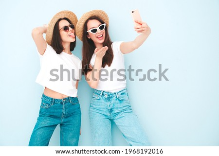 Photo of sexy brunette woman hugging Stock photo © konradbak