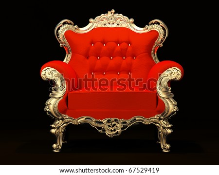 Royal red old stylish armchair with frame on the black backgroun Stock photo © Victoria_Andreas