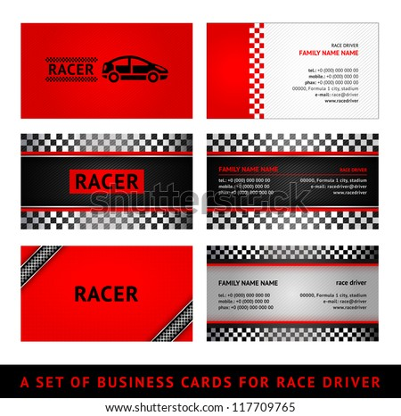 Business cards red race - first set Stock photo © Ecelop