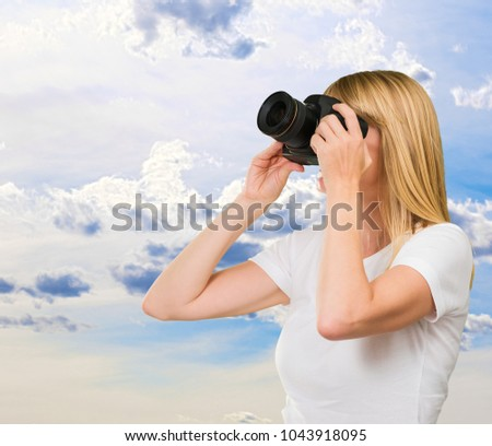 женщины фотограф работу белый девушки Сток-фото © wavebreak_media