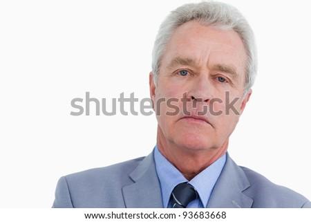 Smutne patrząc dojrzały handlowiec biały Zdjęcia stock © wavebreak_media