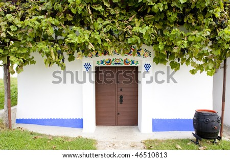 detail of wine cellar, Blatnice pod svatym Antoninkem, Czech Rep Stock photo © phbcz