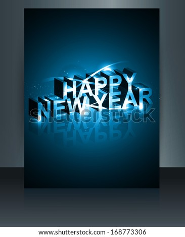 Vector 2014 brochure template new year reflection bright colorfu Stock photo © bharat