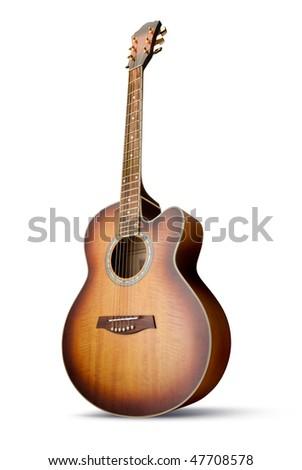 Acoustic Guitar Isolated Over White Background Foto stock © italianestro