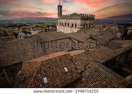 Gubbio Palazzo dei Consoli  Stock photo © LianeM