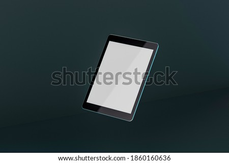 Black generic tablet pc, 3d render. Stock photo © oly5