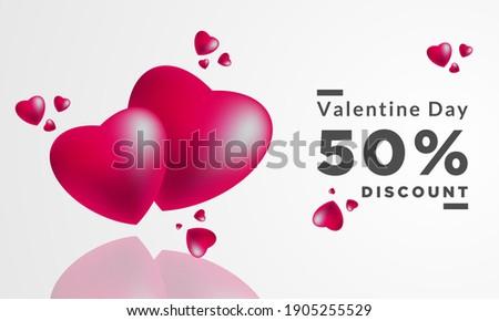 Walentynki karty serca refleksji broszura szablon Zdjęcia stock © bharat