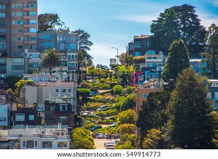 Straat wereld San Francisco Californië bloem Stockfoto © meinzahn
