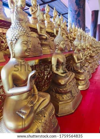 Templom ezer Bangkok gyönyörű arcok istentisztelet Stock fotó © meinzahn
