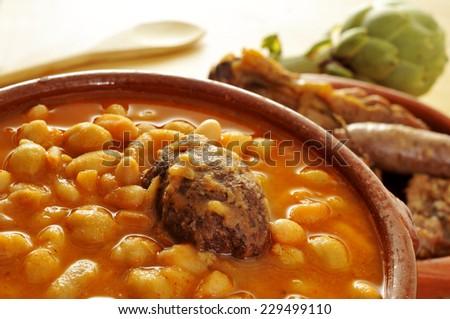 Traditioneel spaans stoven kom voedsel bar Stockfoto © nito
