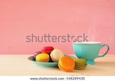 coffee cup and macaroon Stock photo © M-studio