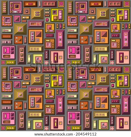seamless 3d stylized futuristic city in multiple bright color Stock photo © Melvin07