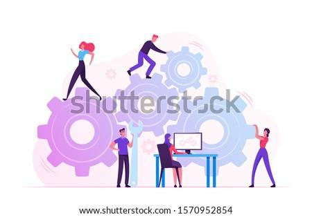 Work Process Concept on the Cogwheels. Stock photo © tashatuvango