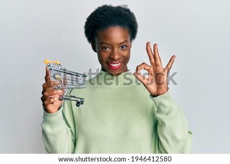 Atrakcyjny młodych Afryki kobieta koszyka Zdjęcia stock © HASLOO