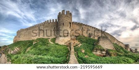 középkori · erőd · Ukrajna · ősi · égbolt · épület - stock fotó © hermione