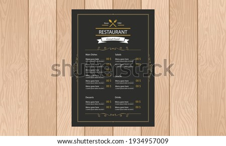 floreale · ristorante · menu · design · modello · di · fiore · coprire - foto d'archivio © morphart