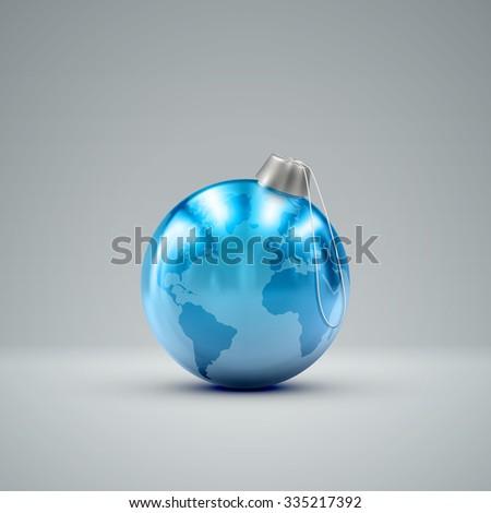 joyeux · Noël · vecteur · planète · image · accueil - photo stock © carodi