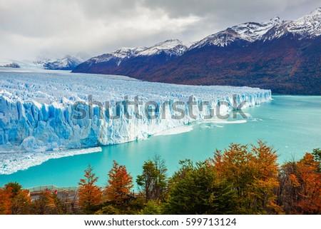 geleira · ver · um · parque · lago - foto stock © benkrut