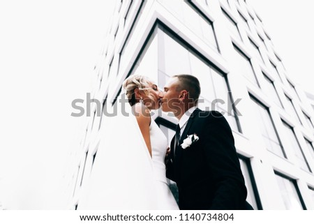 beautiful sensual young woman in wedding dress and flower wreath stock photo © deandrobot