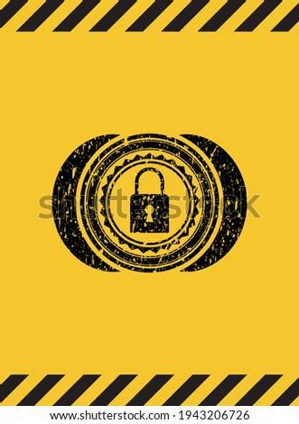 internet security, padlock and technology signs in grunge flat d Stock photo © marinini