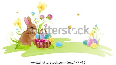 Osterhase sonnig Natur Gartengestaltung Landschaft Kaninchen Stock foto © Wetzkaz