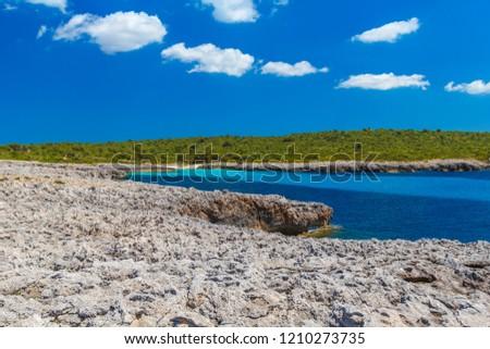 menorca island south coast in sunny day balearic islands spain stock photo © tuulijumala