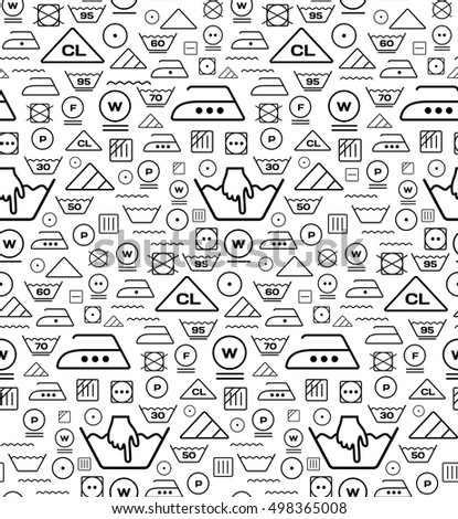Pattern created from laundry washing symbols on a white background Stock photo © m_pavlov