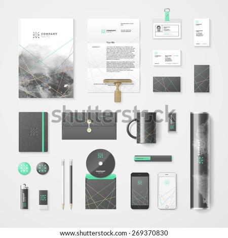 創造 インク ビジネス レターヘッド テンプレート ベクトル ストックフォト © SArts